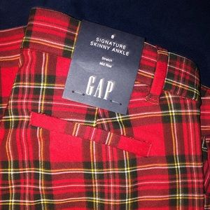 NWT Gap Plaid Mid Rise Pants